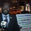 Un haïtien supporte publiquement Donald Trump face à Hilary Clinton qu'il accuse
