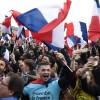 Les partisans de Macron acclament sa victoire